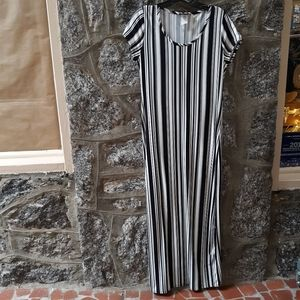 NWOT Women's size XL Retro Short-Sleeve Maxi-Dress